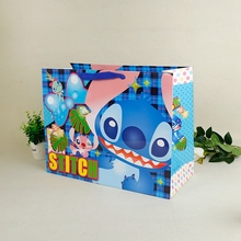 High Quality Cartoon Design Carrier Grocery paper bag with Rope Handle