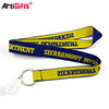 Promotional polyester embroidery custom woven lanyard no minimum