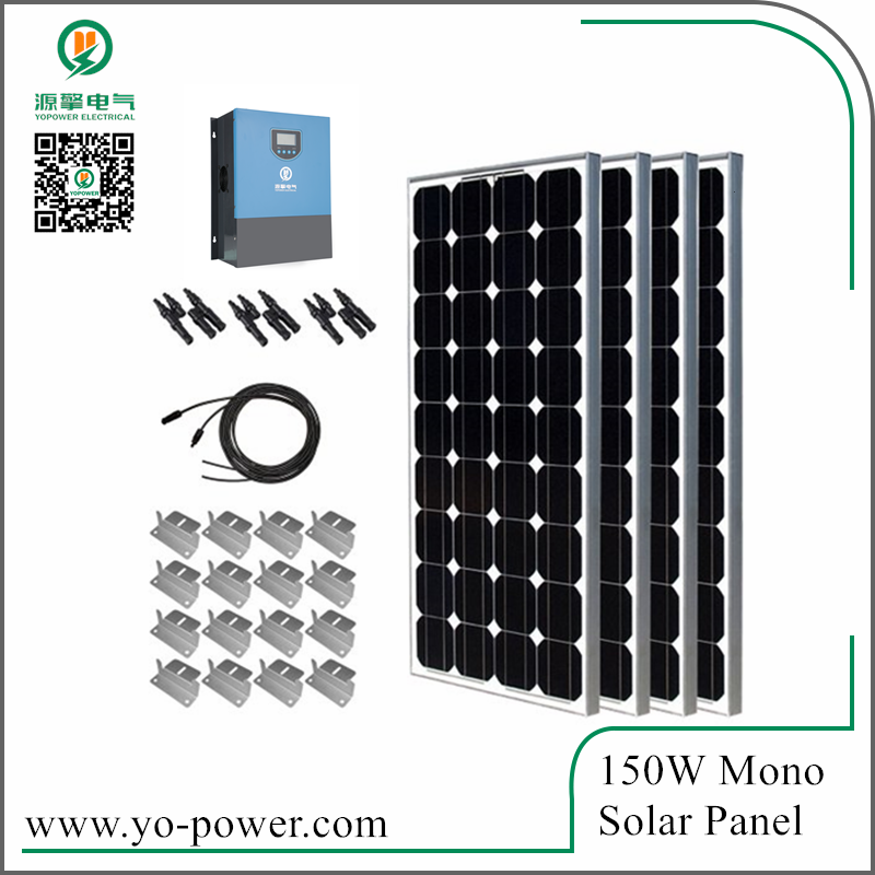 Quality guarantee monocrystalline pv model 150w mono solar panel