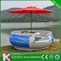 Environmental factory donut BBQ Yacht with electric motor,BBQ donut Boat for sale