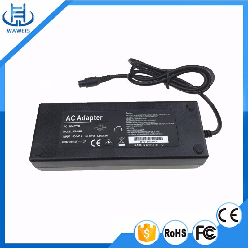 Universal Balance Scooter Charge 42V 2A AC DC Charger Adapter