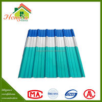 Manufacturer supply 2 layer Environment friendly shingle plastic pvc roof tile