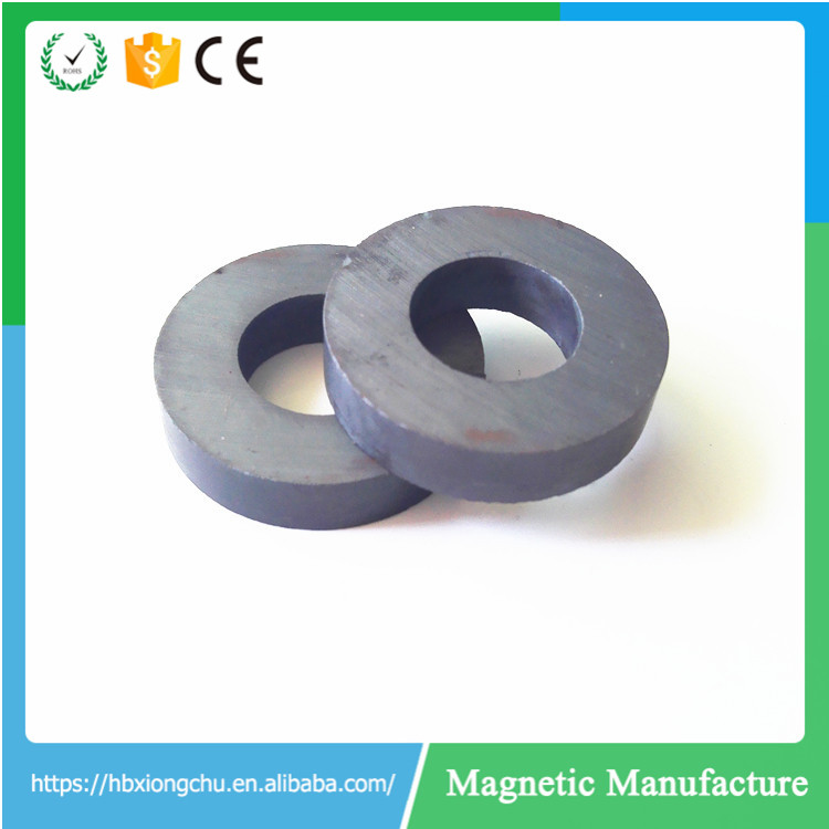 Permanent Hare Ferrite Ceramic Flat Round Black Magnet with Hole