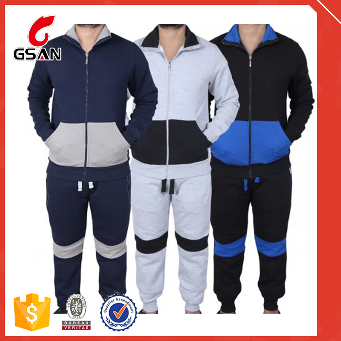 2016 factory design latest men wool tracksuit