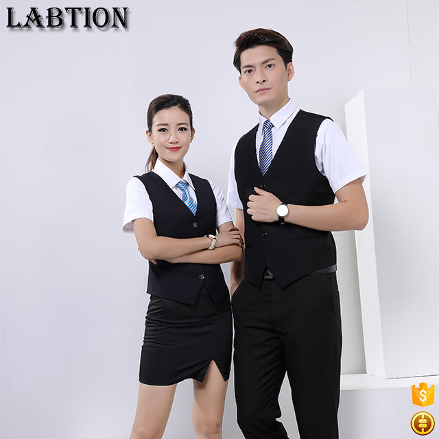 2017 new fashion custom good qulity office vest men suit