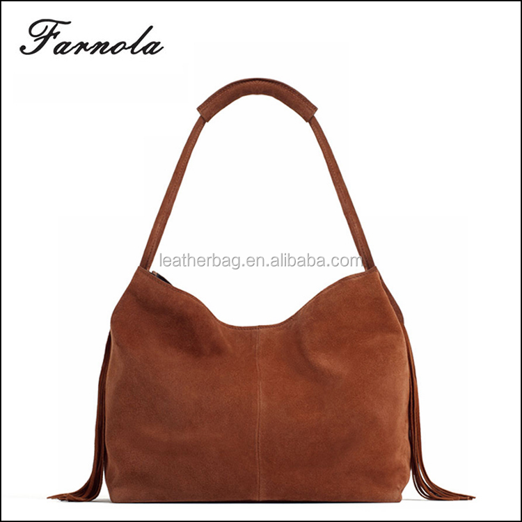 China Supplier 2017 fashion cheap authentic designer genuine leather hobo bag women hand bags wholesale handbags China for lady