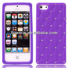 FL2362 2013 Guangzhou hot selling bling crystal diamond soft gel silicone cover case for iphone 5 5G