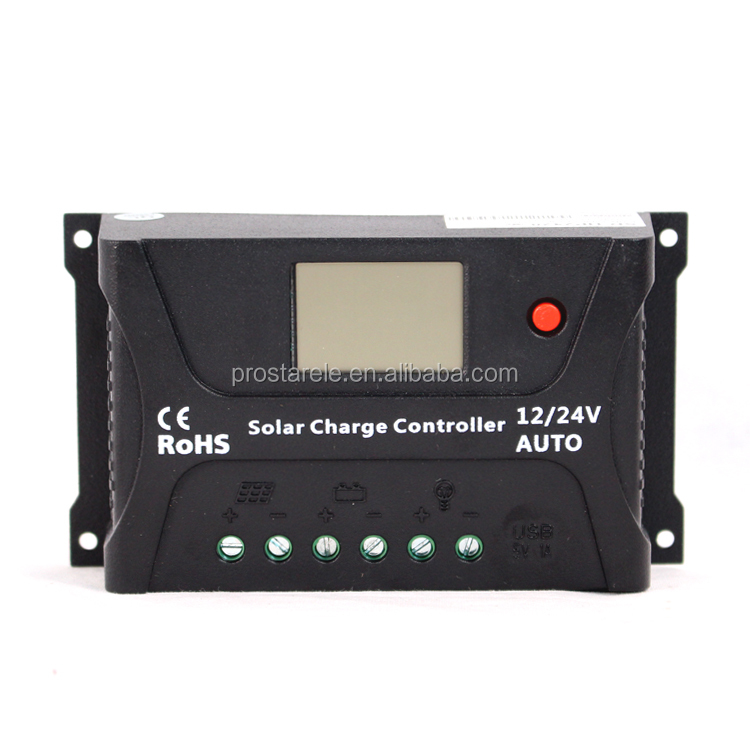 Hot selling 12V/24V 20A CE RoHs PWM Solar Battery Charge Controller