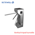 Full-automatic vertican tripod turnstile mechanism