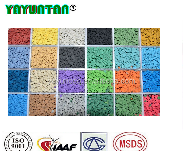 colored virgin rubber mulch for playgrounds & landscape