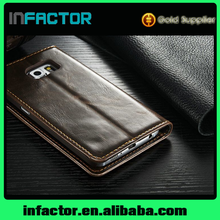 Best wholesale Shenzhen handbag Customized design leather phone case for S6