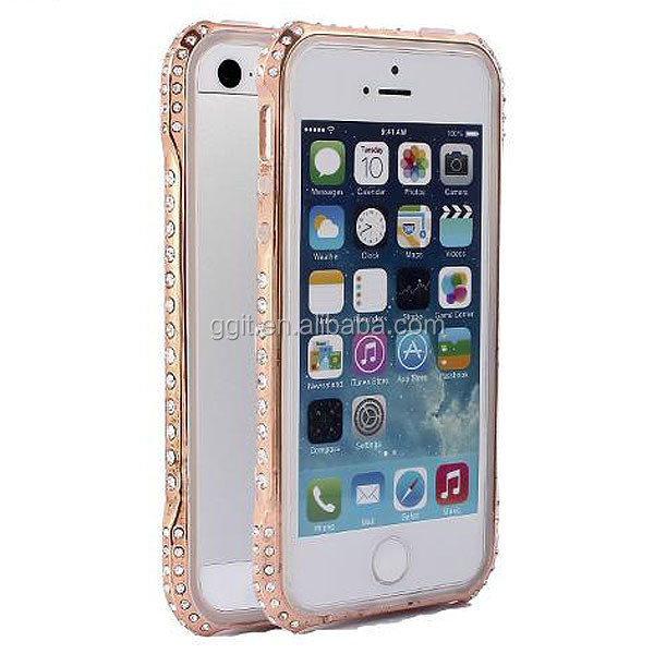 Luxury Diamond Bumper For iphone 5, Diamond Crystal Bling Aluminum For iPhone 5 Bumper Case