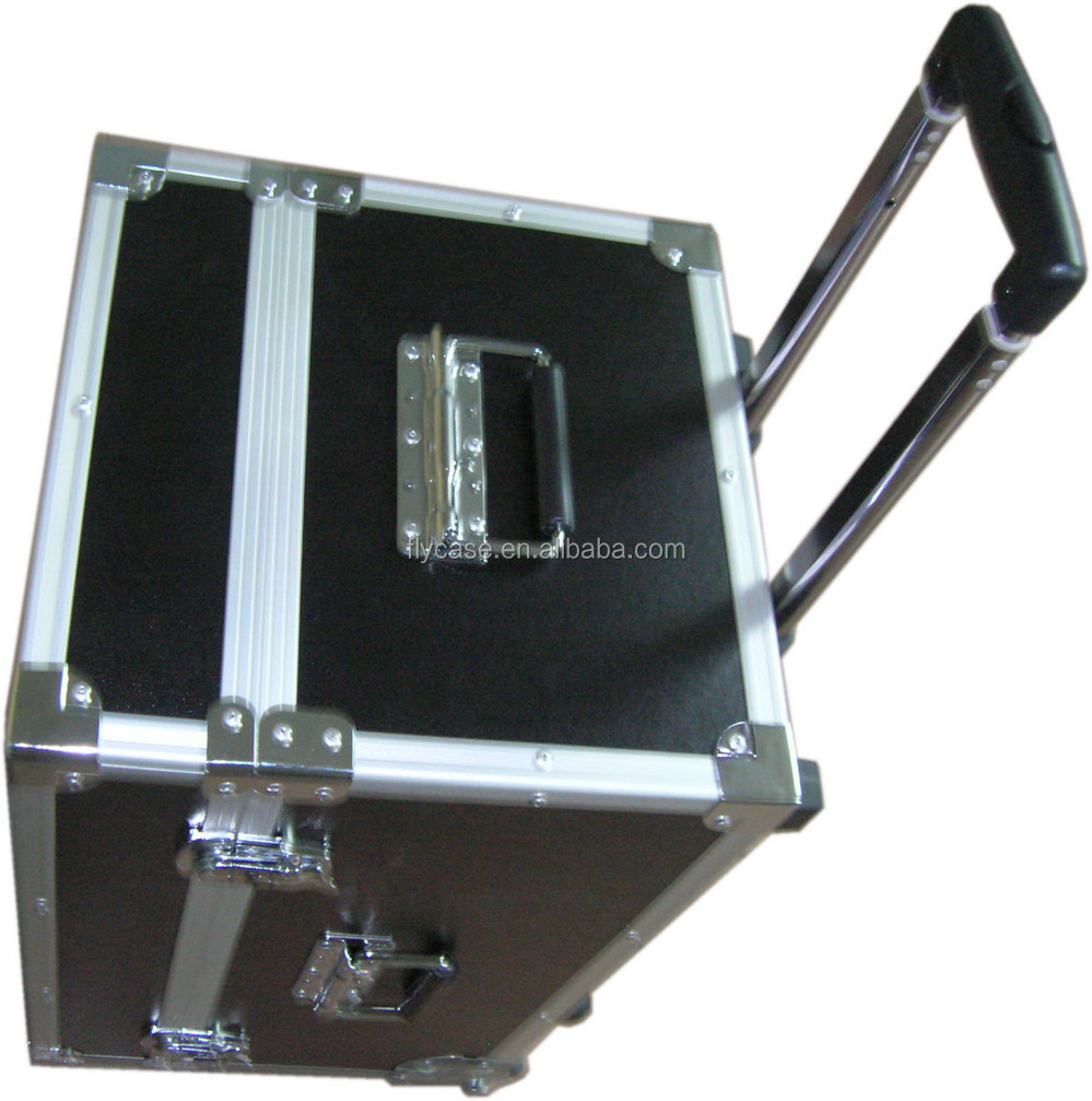 Aluminium flight pilot case,flight case with trolley,aluminum rolling pilot case