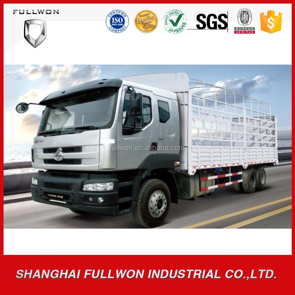 china best diesel engine chenglong 10 wheel cargo van truck for sales in pakistan with low price