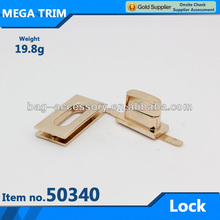 No.50340 light gold turn bag lock hardware for leather goods