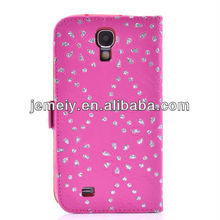 For Samsung Galaxy S4 i9500 flip cover Bling Diamond Stars Leather Case
