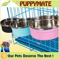 High quality Stainless Steel Cage Coop Cup Pet Bird Dog Puppy Food Water Bowl Hanging bowl