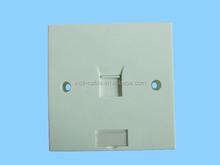 1 Port Outlet RJ45 Cat5e/Cat6 Ethernet Wall Plate