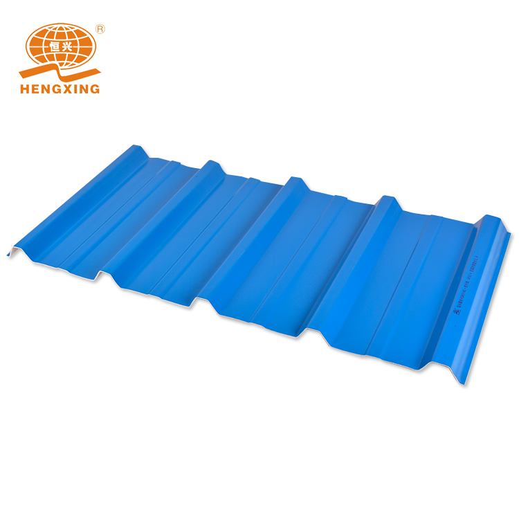 trepezoidal wave Pvc Plastic Roof Sheet for house / 3 layer PVC Roofing Sheet building material