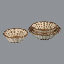 cheap colored Artificial decorative plastic rattan fruit basket