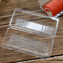 Vacuum Forming Disposable Plastic Clamshell Hinged Food Container, Clear Cake Packaging Box