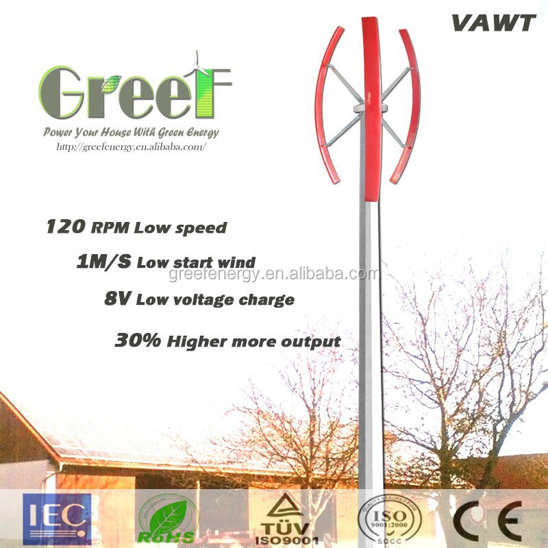 NEW!Domestic 1KW small vertical wind generator, off grid vertical windmill genrator for home