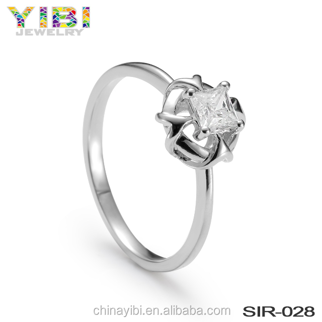 sample wedding engagement 925 silver diamond ring design for girl price