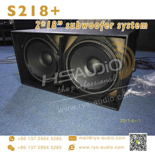 dual 18 inch heavy bass subwoofer driver S218+ speakers used pa system for sale