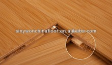 Click System 15mm Thickness Carbonized Bamboo Flooring