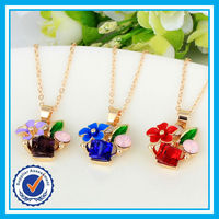 Cheap price zircon crystal gold chain meaningful pendant necklace