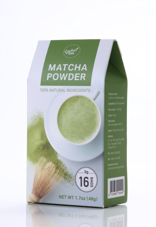Superb and savory green tea powder in fractional package