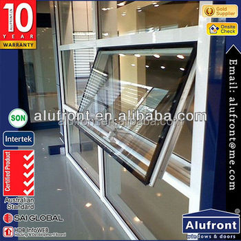 guangzhou aluminium awning window with manual crank