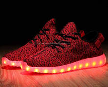 2017 New Style Colorful Running Sport/Casual Changeable Color Light Up Adults Led Shoes For Men and women