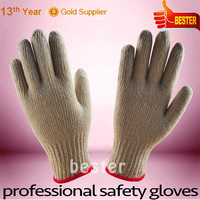 New Arrival hotsale white cotton knitted driving hand glove
