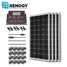 Renogy Solar Panel 400 Watt Starter Kit 12V RV Boat 100W Mono Off Grid Power System