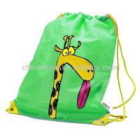 Promotion Polyester customized drawstring backpack/Trainer Bag - Giraffe