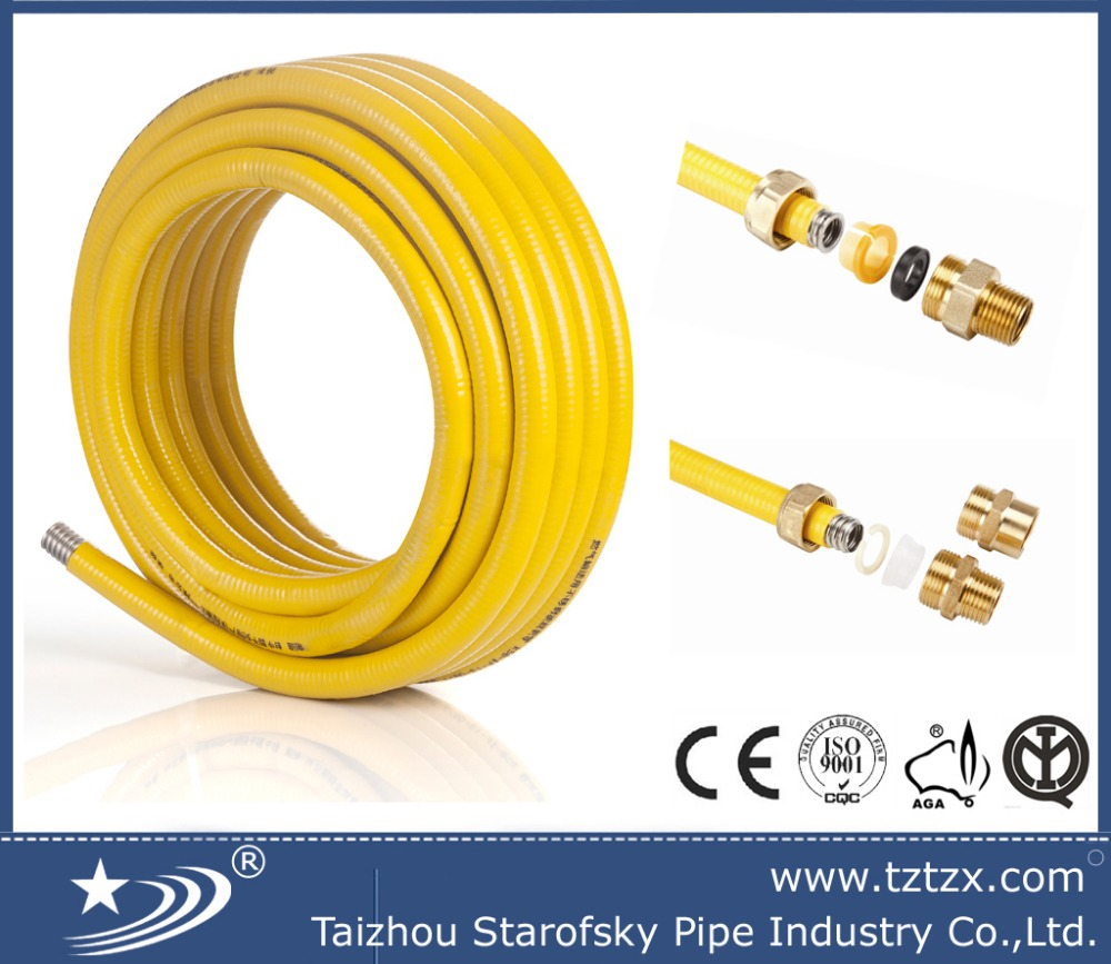 EN 115266 stainless steel flexible gas hose in roll in coils