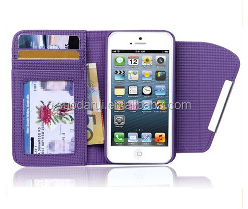 Clear Card Pockets Leopard Leather Pouch Wallet Case for iPhone 5C