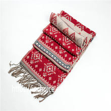 Women's Classic Knit Jacquard Winter Scarf Shawl Scarves Great Christmas Gift