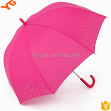 New straight umbrella logo curve handle straight umbrella