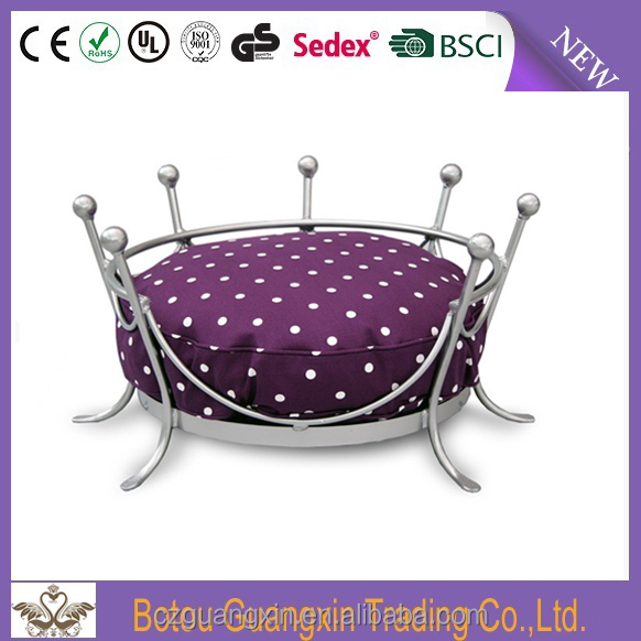 Pet Accessories Wholesale Designer Round Metal Dog Bed
