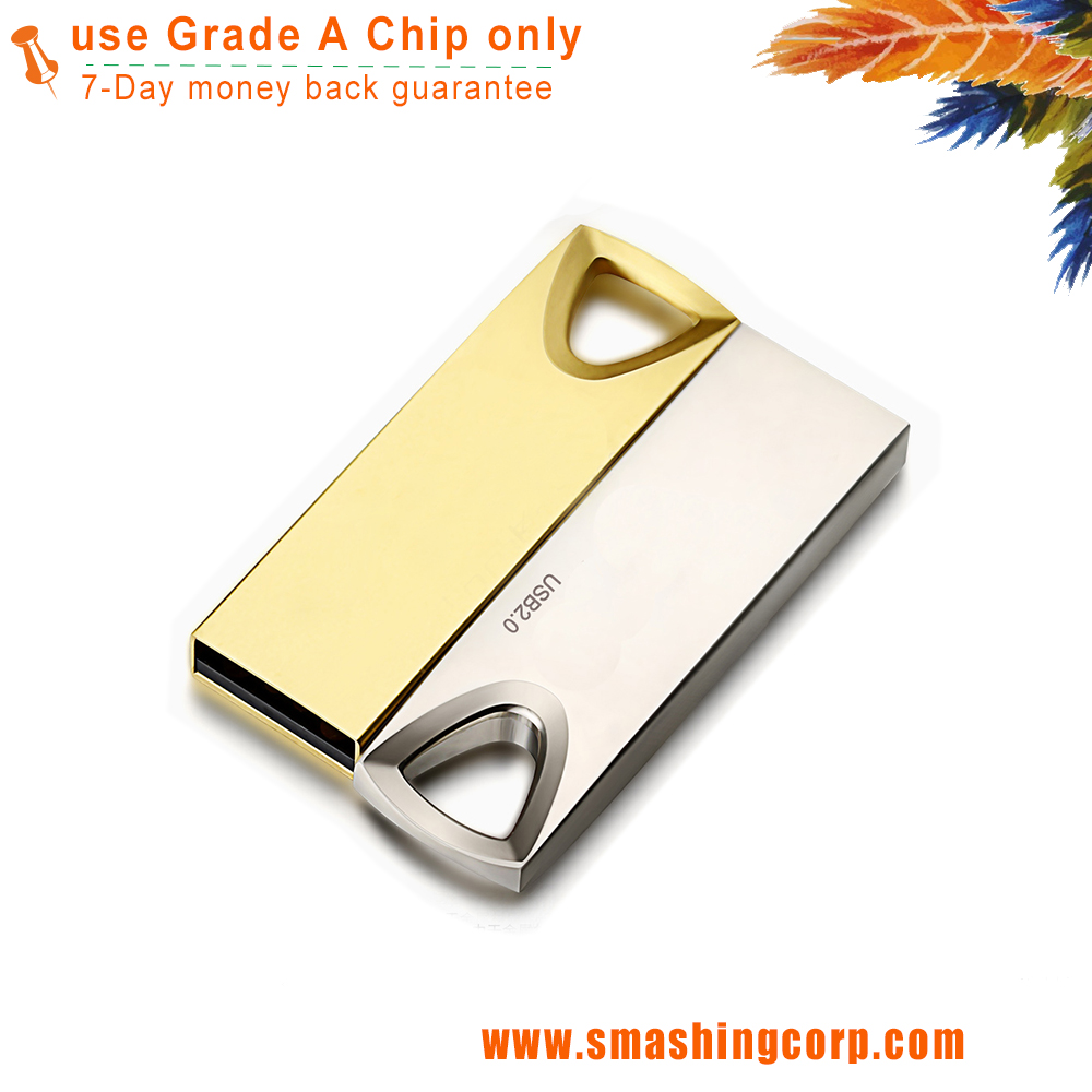 custom gold usb stick 16GB usb flash drive with engraved logo for promotion/gifts/events...