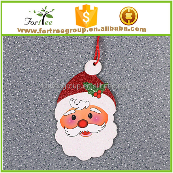 wholesale christmas decoration hanging christmas santa claus with logo