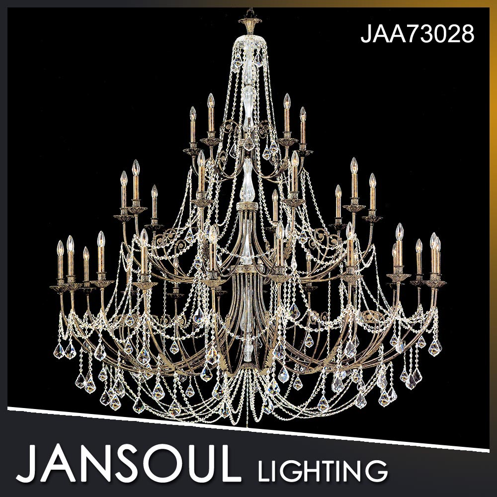 Guzhen new large brown luxury multilayer metal pendant crystal lighting chandelier