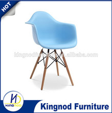 PP plastic dining chair with wooden leg Dining DAW Arm Chair