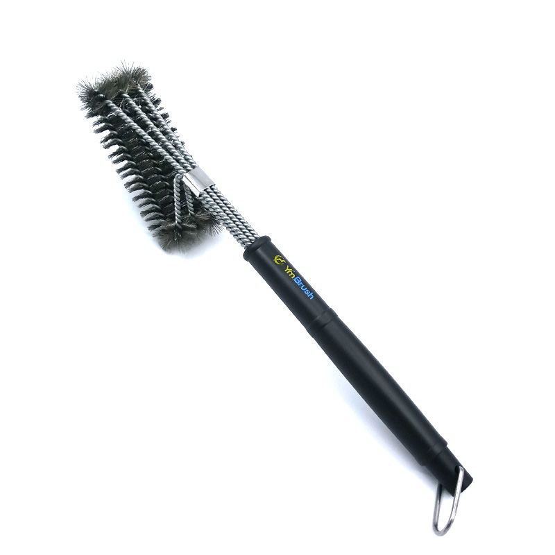 Hot sell triple head barbecue cleaning grill brush 3 in 1