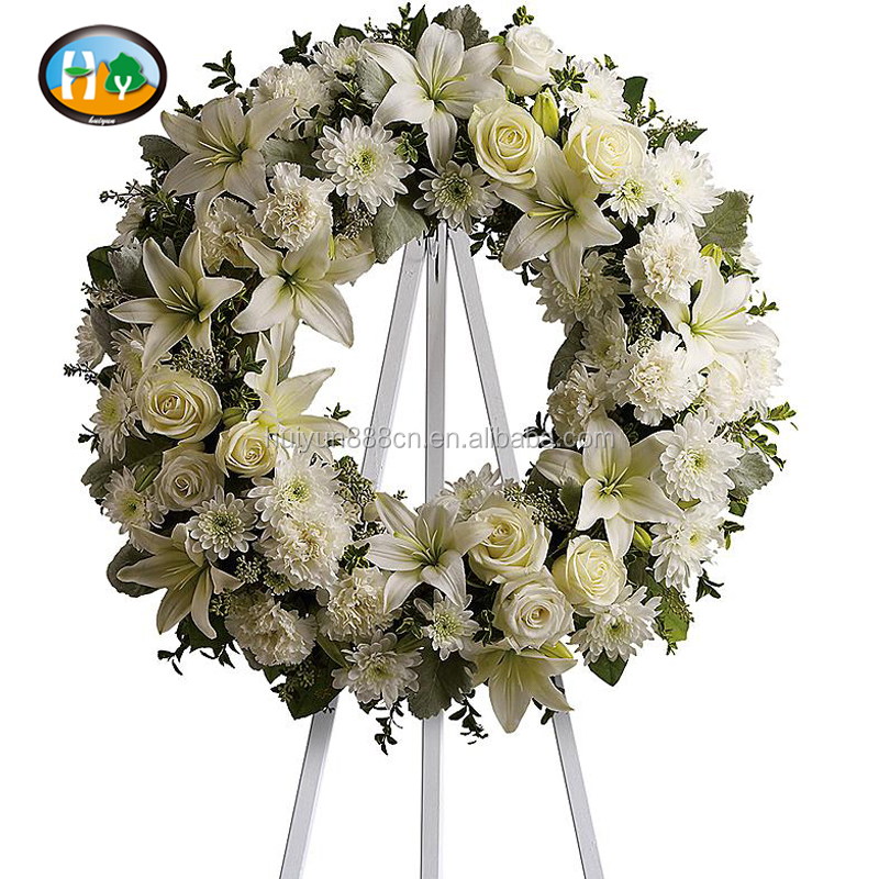 Decorative Artificial wreaths flower artificial flower for funeral