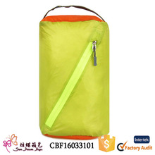 Portable outdoor waterproof nylon laundry bag set barrel storage bag for travel