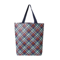 China design 80gsm classic plaid laminated customized non woven bag