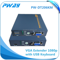 HOT !VGA extender via utp cable support keyboard and usb rj45 video ethernet transmitter and receiver